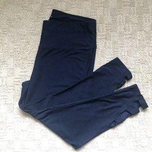 Apana Women's Blue Cropped Plus Size Leggings 1X